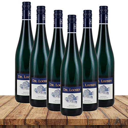 Dr. Loosen Riesling vom Schiefer 2019 | Weinpaket Weißwein (6 x 0,75 Liter) | Weißweine aus Deutschland