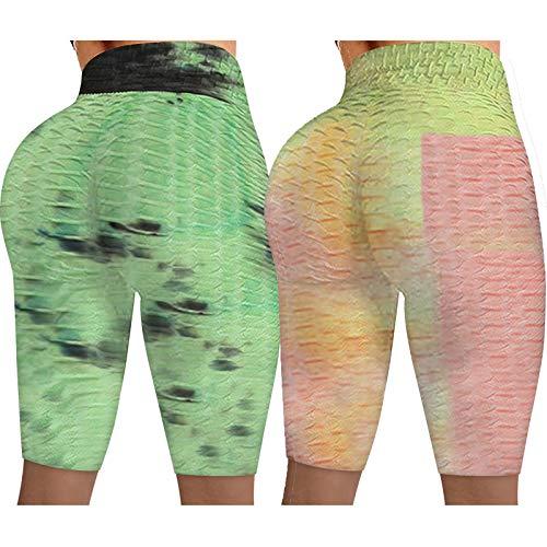 NAQUSHA Pantalones de yoga arrugados para levantamiento de glúteos y levantamiento de glúteos para mujer