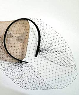 Culturemart Black Fascinator Veil Headband Jennifer Lawrence Black Birdcage Veil Gothic Bride Masquerade Ball Veil