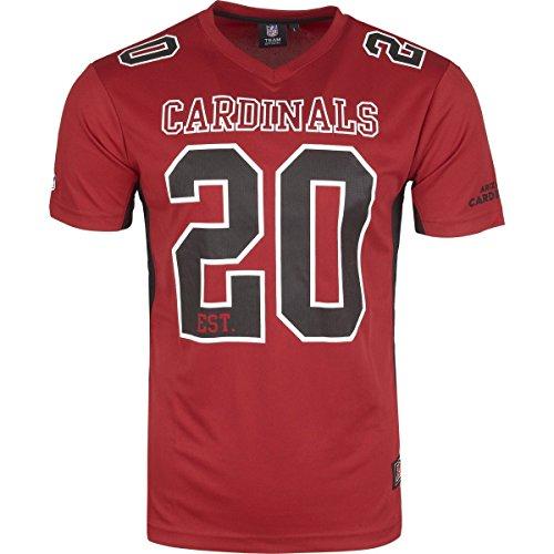Majestic NFL Mesh Polyester Jersey Shirt - Arizona Cardinals, Größe L, Farbe Rubin
