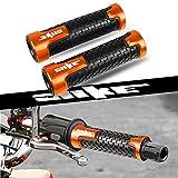 22mm 7/8''Universal Manillares Empuñadura Antideslizante para K T M Duke 125 200 390 / RC125 200 RC390 / 690 Duke R / 690 LC4 Supermoto LC4 Enduro / 690 SMC SMC-R-Naranja