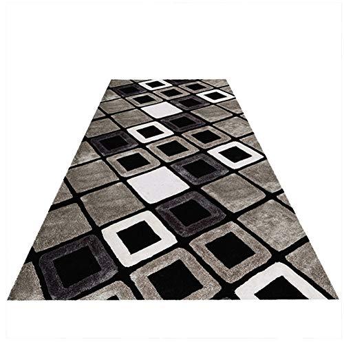 YYQIANG Alfombra larga para cocina, escaleras, antideslizante, diseño geométrico minimalista y moderno, longitud personalizada a la moda y duradera (color: A, tamaño: 0,6 MX4 M)