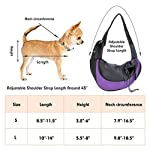EVBEA Dog Carrier Sling Front Pack Puppy Carrier Purse Breathable Mesh Travel for Small or Medium Pet Dogs Cats Sling Bag 10