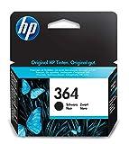 HP 364 CB316EE, Negro, Cartucho de Tinta Original, de 250 páginas, para impresoras HP Photosmart serie C5300, C6300, B210, B110 y Deskjet serie 3520