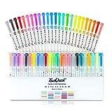 Touchcool Mildliner Juego Completo de Resaltadores Pastel, 25 Colour Mágicos Subrayadores de Dos Puntas