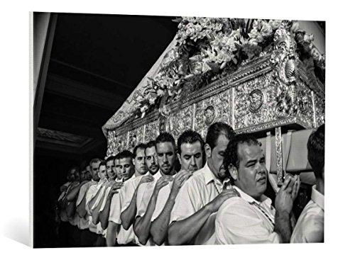 Kunst für Alle Cuadro en Lienzo: Nina Tvalchrelidze Virgen del Carmen Festival - Impresión artística, Lienzo en Bastidor, 90x60 cm