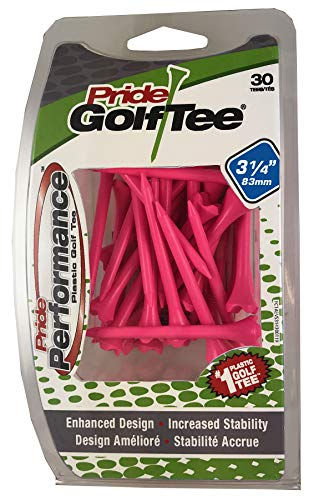 PRIDE GOLF TEE Performance Golf Tees 3-1/4', Citrus Pink Pack of 30 (EVP3143013)