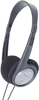 Panasonic RP-HT090E-H - Auriculares Diadema Abiertos Con Cable (Control de volumen en el Cable, Aurículas Ampliadas, 16 Hz-22kHz, Cable Largo 5 m), Color Plateado