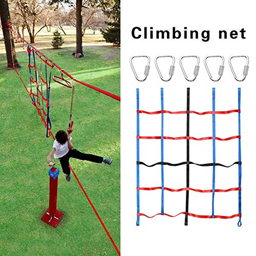 Kinder Outdoor Kletternetz, 1,45x1,85 m Spielplatz Schaukelseil Leiter Netz für Outdoor Hinterhof Schaukelseil Leiter Kletterfrachtnetz