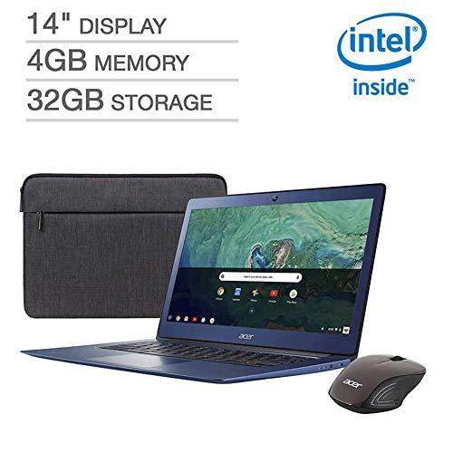 "2019 Newest Acer Premium Flagship Laptop Chromebook 14"" Full HD Display Intel Celeron N3160 Processor 4GB RAM 32GB eMMC Storage Bonus Acer Wireless Mouse&Sleeve HDMI Webcam Bluetooth 4.2 Chrome OS"