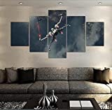 xhabbaa 5 Lienzos para Pintar De Art Star Wars Art Rogue One X-Wing Fight Impresión En HD Impresiones Abstractas Dormitorio Moderno para El Hogar-Marco-Size2