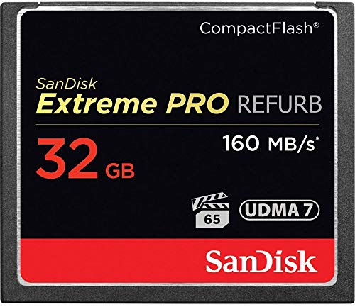 SanDisk Extreme PRO SDCFXPS-032G-X46 CompactFlash Speicherkarte (32 GB, UDMA 7 Geschwindigkeiten bis zu 160 MB/s)