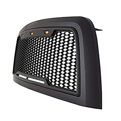Paramount Matte Black ABS LED Impulse Mesh Grille 41-0175MB 10-12 Dodge Ram 2500/3500