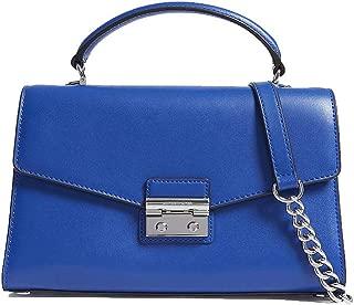 Michael Michael Kors Sloan Electric Blue Leather Top Handle Satchel