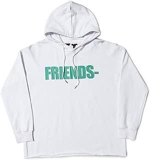 Vlone FRIENS Hooded Letter V Sweater Men Women Couple Long-Sleeved Shirt