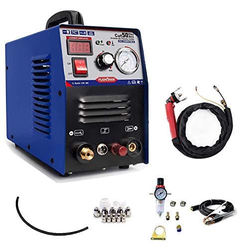 SUSEMSE Máquina de corte de plasma no táctil de arco piloto de corte de plasma 220V equipo de soldadura portátil 1/2\'\' corte limpio CUT50P
