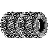Terache 25x8-12 25x8x12 Tubeless 6 PR 25' ATV UTV Tires TE-AT [Set of...