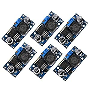 Dealikee 6 Pack LM2596 DC to DC Voltage Regulator, 3.0-40V to 1.5-35V Step Down Power Supply Buck Converter DIY Module