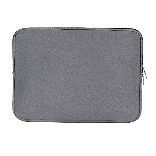 Bolsa de manga macia com zíper para substituição de bolsa para laptop portátil para MacBook Air Pro Retina Ultrabook cinza de 13 polegadas para laptop