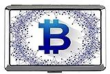 Estuche rígido de Cigarrillos de Paquete Completo, Estuche para Tarjetas de Negocios con Bolsillo de Monedas de Bitcoin Money