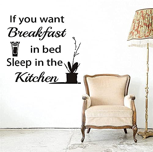 Calcomanías de vinilo autoadhesivas Art Deco para pared, pegatinas de pared para cocina, calcomanías de decoración para dormir, frases de jugo de naranja 61X57Cm