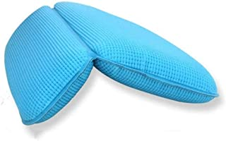 YXHMdd Bathtub Pillow with Neck Support for Relaxing Baths Bath Pillows and Spa Head Rest Home Spa Headrest (Color : Blue)