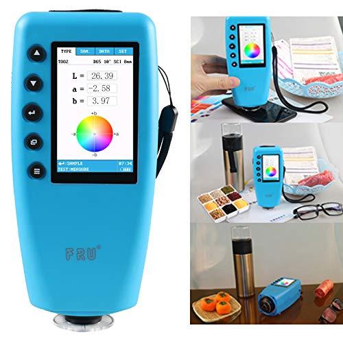 8mm Analizador de Color de Medidor de Diferencia de Color Digital Portátil con Visualización de Color, Colorímetro Digital Universal Portátil