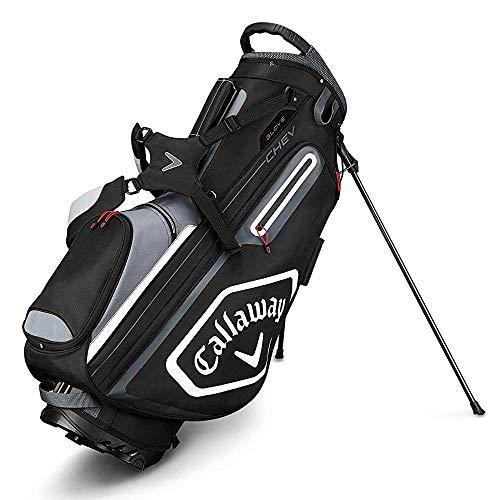 Callaway Golf 2019 Chev Standtasche, Unisex-Erwachsene, Stand Bag, Schwarz/Titan/Weiß