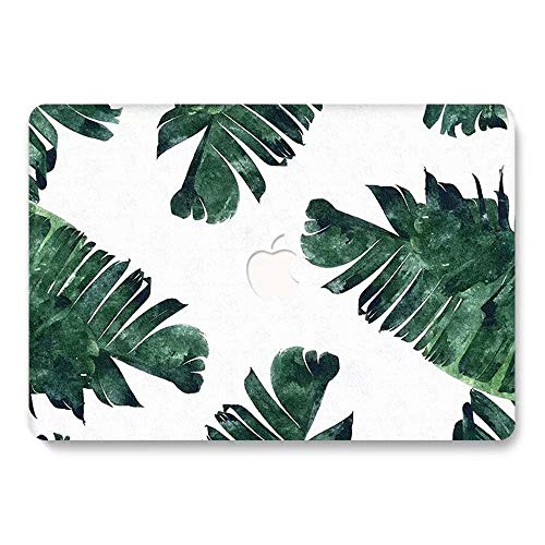 MacBook Pro 13 inch Case 2019 2018 2017 2016 Release A2159 A1989 A1706 A1708, Jiehb Hard Shell Case for New MacBook Pro 13 Inch with/Without Touch Bar Touch ID - Green Leaf