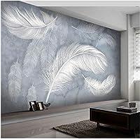 Xbwy 装飾壁画現代のファッションの羽の壁紙手描きの壁の壁画のリビングルームのベッドルームの高級アート-250X175Cm