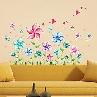 ملصقات جدارية قابلة للإزالة عليها رسومات كرتونية لطاحونة هوائية لغرف الأطفال