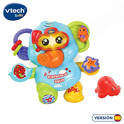 VTech- Elefante al Agua bebé, Juguete para baño, Color (3480-515322)