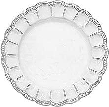 Arte Italica Bella Bianca Beaded Charger Plate, White