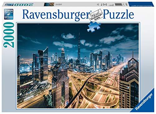 Ravensburger Puzzle 2000 Pezzi, Vista di Dubai, Collezione Skyline Foto e Paesaggi, Jigsaw Puzzle per Adulti, Puzzles Ravensburger - Stampa di Alta Qualità, Dimensione Puzzle: 98x75cm