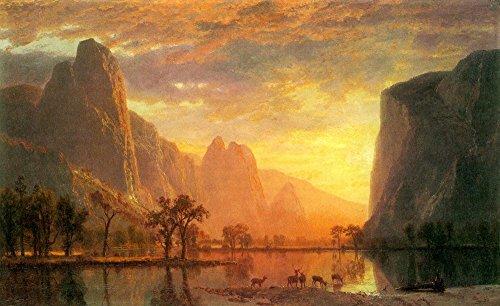 Das Museum Outlet–Valley In Yosemite by Bierstadt–Poster Print Online kaufen (152,4x 203,2cm)