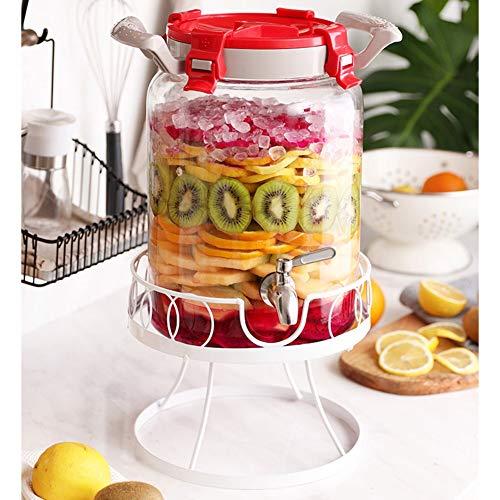 Drankdispenser met afdichtring van metaal zonder lekken, deksel van ABS, dispenser voor limonade/thee/koud water ~