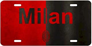 SAWADK AC Milan Hunting Fishing Front License Plate Aluminum Motorcycle Car License Plate Decorative Made in USA