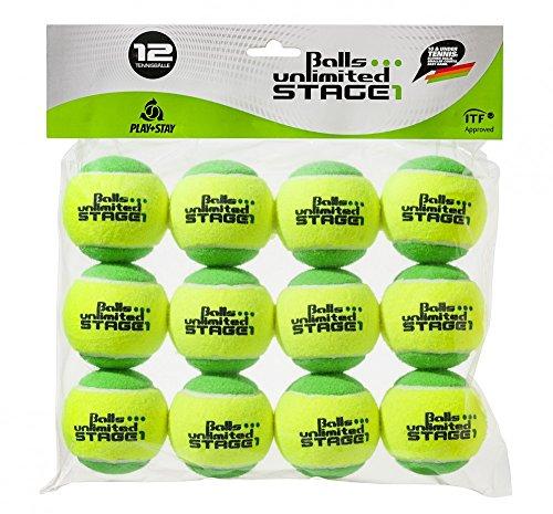 Balls ... unlimited Stage 1 (grün) Kinderbälle, Trainingsbälle 25% Druckreduziert, Methodikbälle - 12er Pack