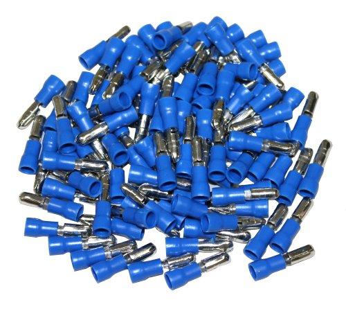 100 enchufe cilíndrico aproximadamente los conectores o enchufes para cable 1,5-2,5mm² azul cable zapatos Crimp