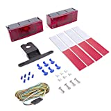 Wellmax 12V LED Trailer Lights Kit, Attachable Tail Lights for RV, Marine, Boat, Trailer, Camper, Low Profile Submersible and Waterproof