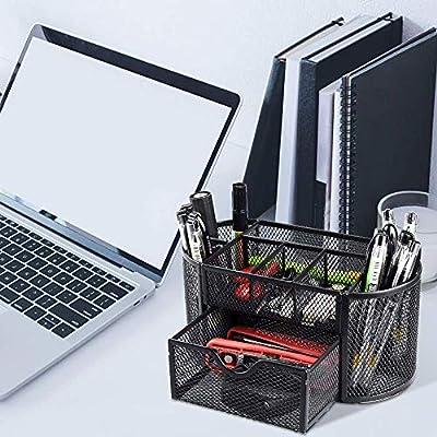 Desk Organizer, Pen Holder for Desk - Multifunc...
