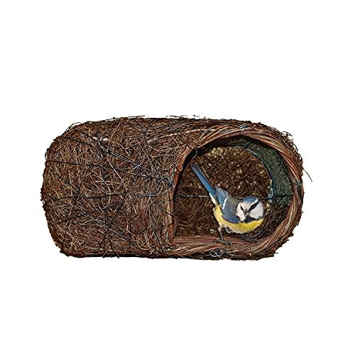 Simon King Brushwood Robin Nester de Madera de Cepillo, marrón, H13xL25xD14cm