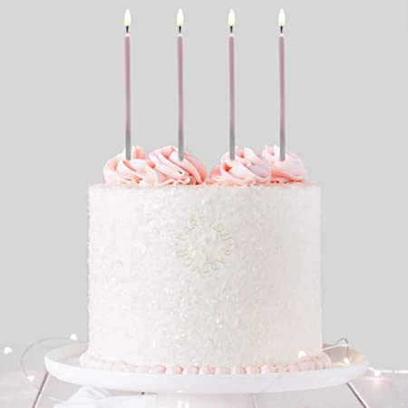 24 Metallic Silver Candles Silver Decor Silver Wedding Anniversary Boys Birthday Party Silver Birthday Cake Candles Anniversary Party