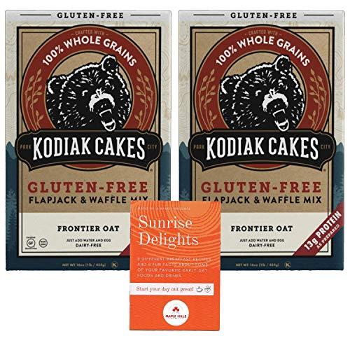 Kodiak Cakes Gluten Free Flapjack and Waffle Mix - Frontier Oat Flavor - Includes Free Recipe and Fun Facts Booklet Sunrise Delights