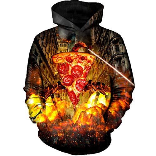 Schlechte Pizza Hoodie trägt Anzug Langarm-Sweatshirt Pullover Hoody 3D-Tops Hoodie Sweatshirt 5XL