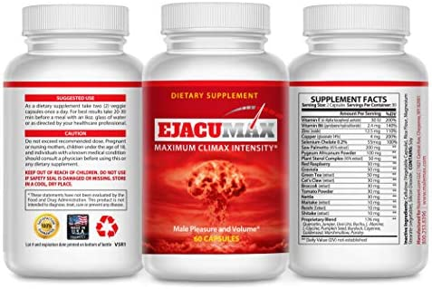EjacuMax Pro Male Fertility Supplement Volume Boosting Fertility Pills for Men Increase Sperm product image