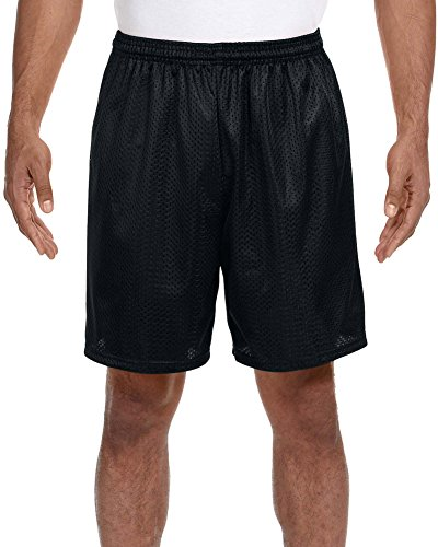 A4 Seven Inch Inseam Mesh Short, XL, BLACK