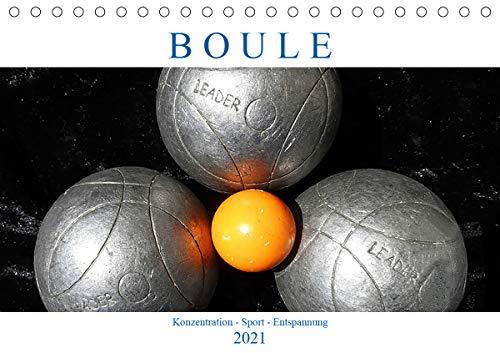 Boule. Konzentration - Sport - Entspannung (Tischkalender 2021 DIN A5 quer)