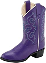 Old West Kids Boots Baby Girl's Pearlized Purple (Toddler/Little Kid)