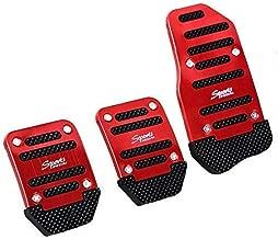 SZSS-CAR 3pcs Nonslip Car Pedal Pads Auto Sports Gas Fuel Petrol Clutch Brake Pad Cover Foot Pedals Rest Plate Kits For Honda,Toyota, VW, Mazada,Porsche, Lexus,Renault.